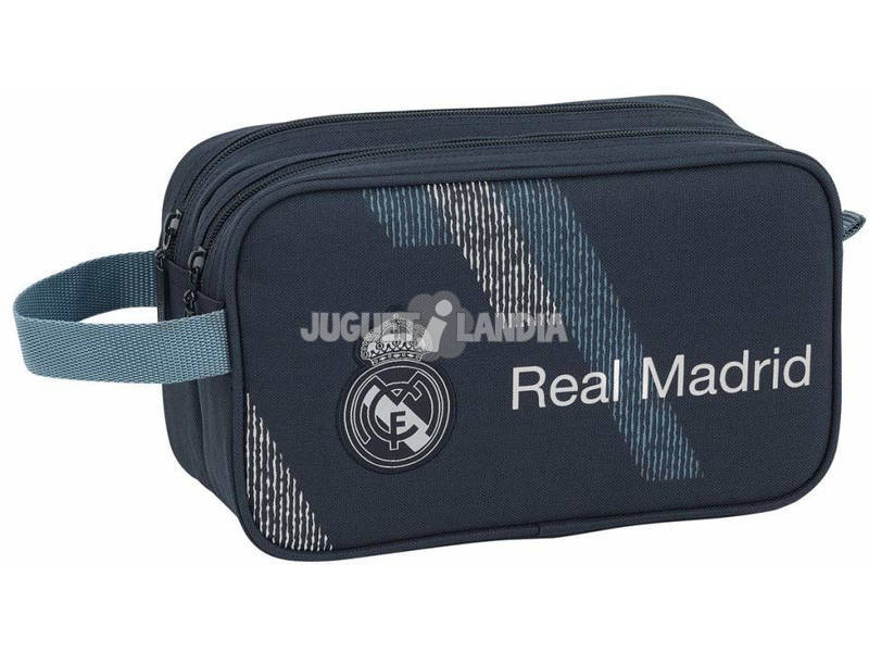 Borsello Real Madrid Dark Grey con Maniglia e 2 Cerniere Adattabile al Carrello Safta 811834518