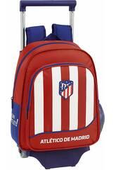 Sac à Dos avec Chariot 705 Atlético Madrid 1er Équipement Safta 611845020