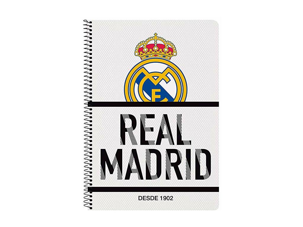 Notebook Copertina Rigida 80 f. Real Madrid Safta 511854066