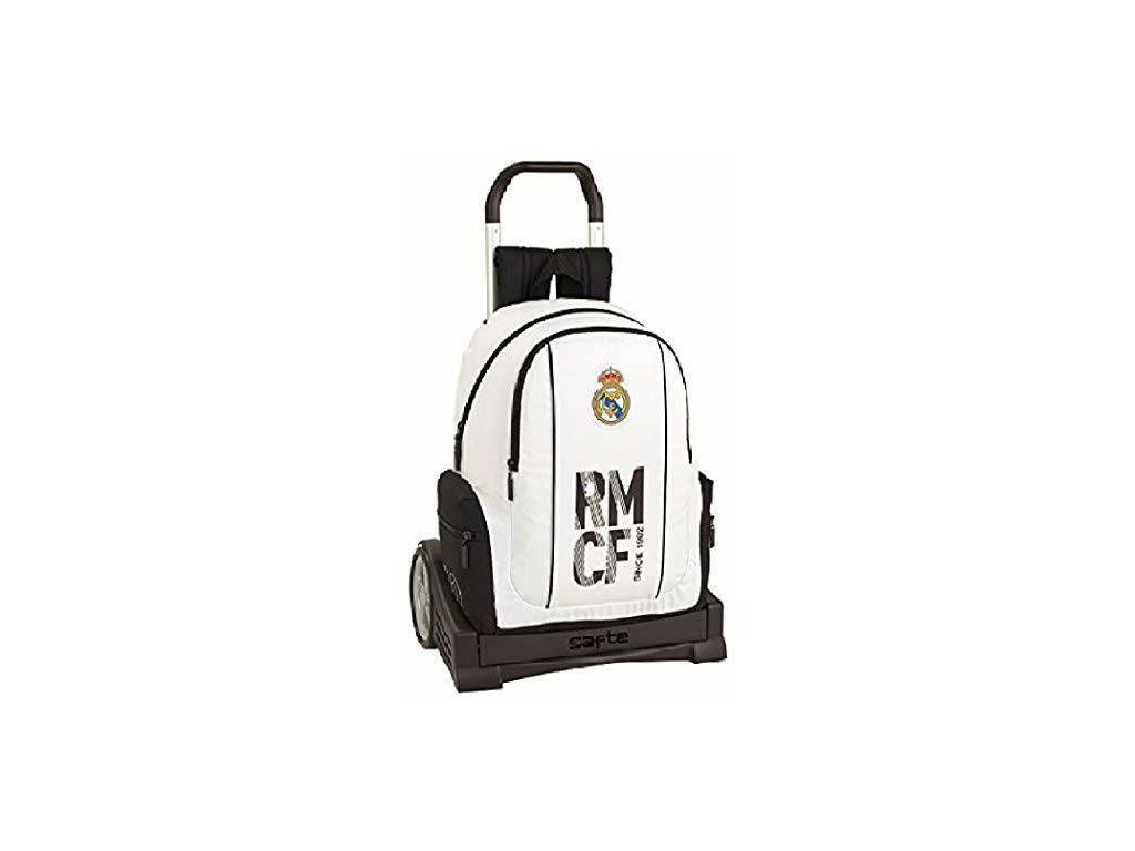 Mochila com Carro Evolution Real Madrid 1ª Equipamento Safta 611854860