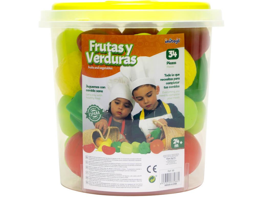 Set Frutas e Verduras 34 Peças Vicam 88