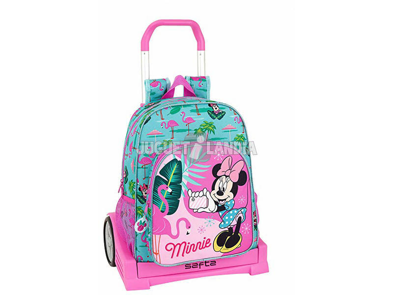 Zaino con trolley Evolution Minnie Mouse Palms Safta 611912860