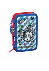 imagen Plumier Doble Pequeño 28 Piezas Mickey Mouse Safta 411914854