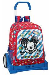 Mochila con Carro Evolution Mickey Mouse Maker Safta 611914860