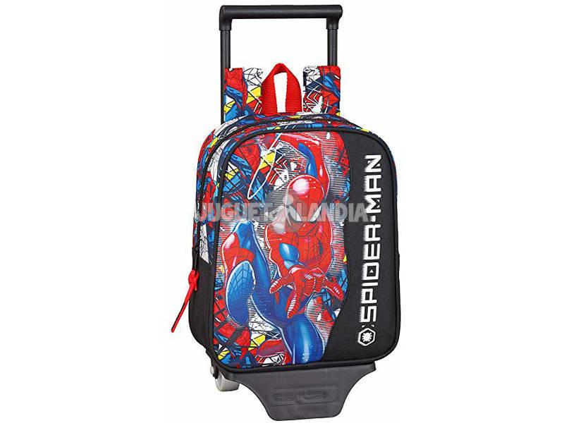 Mochila con Carro Spiderman Super Hero Safta 611943280