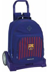 Mochila com Carro Evolution F.C. Barcelona Safta 611829862