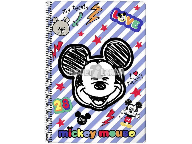 Notebook Copertina Rigida 80 f. Mickey Mouse Maker Safta 611914855