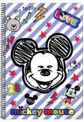 Libreta Folio Tapas Duras 80 h. Mickey Mouse Maker Safta 611914855