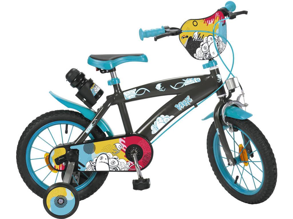 Bicicleta 14 Negra y Azul Toimsa 14150