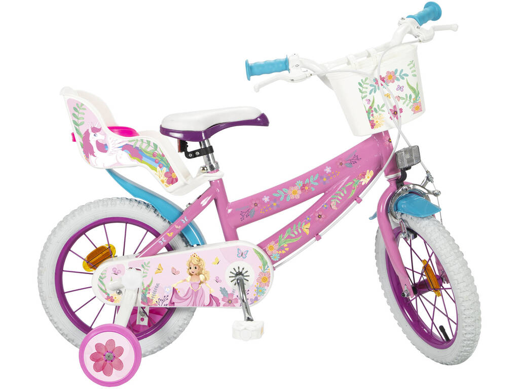Bicicletta 14 Rosa e Bianca Toimsa 14151
