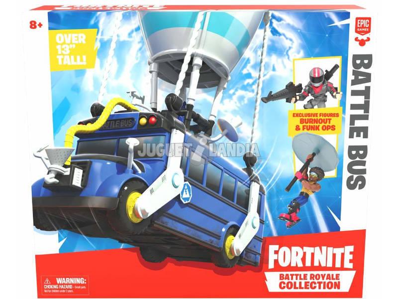 Fortnite Battle Bus Con Figura Burnout e Funk Ops Giochi Preziosi FRT35000