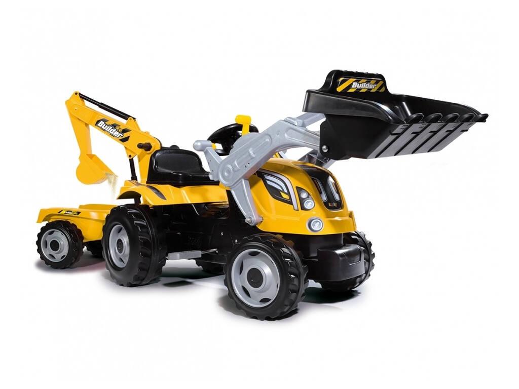 Tracteur Builder Max Avec Remorque Smoby 710301