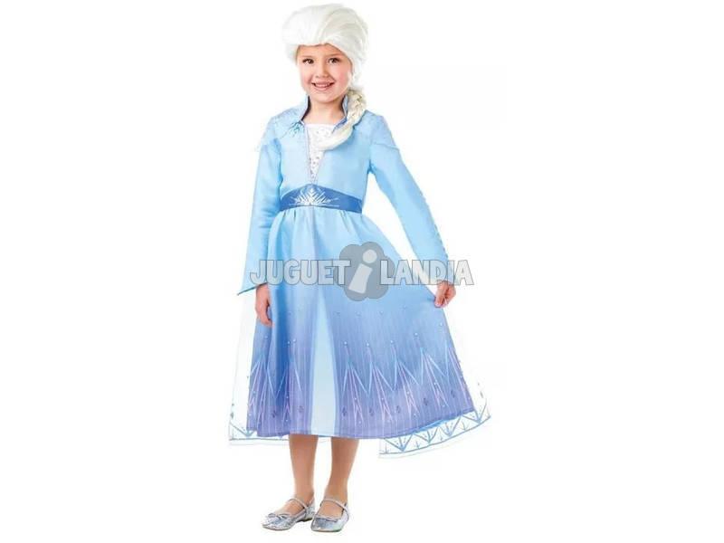 Disfraz Niña Elsa con Peluca Frozen 2 Talla S Rubie's 300631-S