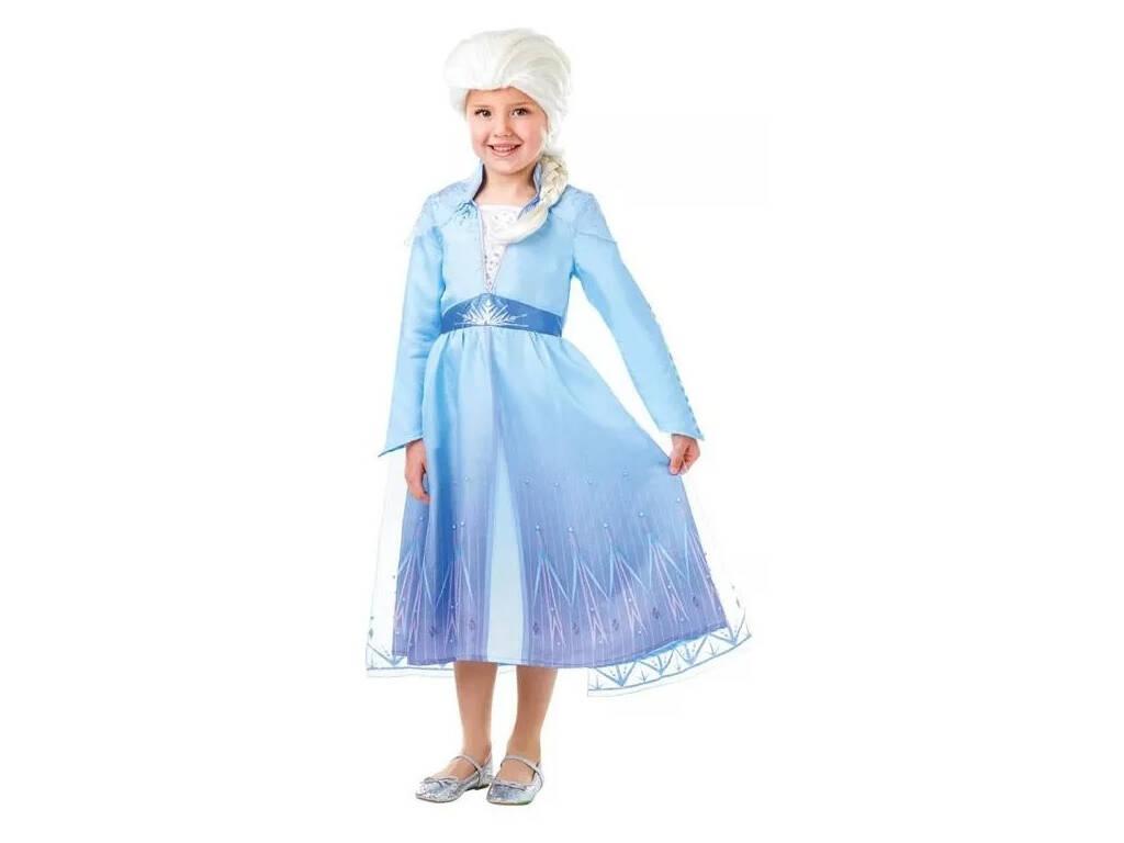 Disfraz Niña Elsa con Peluca Frozen 2 Talla M Rubie's 300631-M