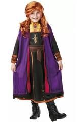 Costume Bambina Anna con Parrucca Frozen 2 Taglia S Rubie's 300632-S