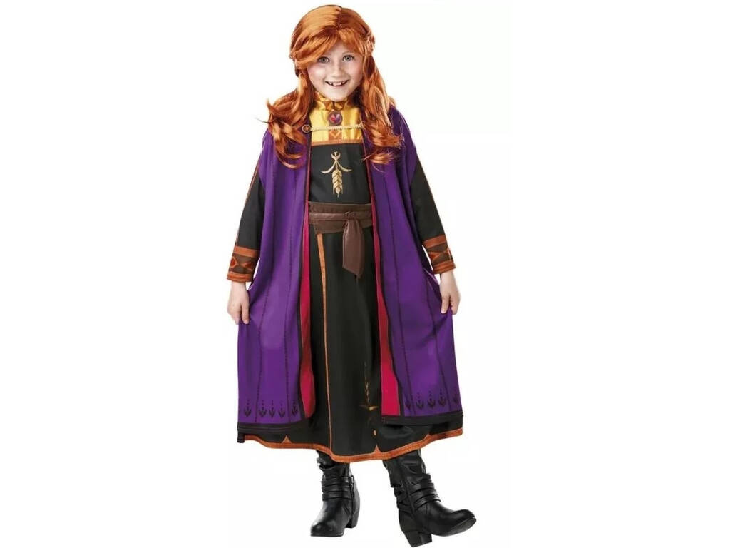 Disfraz Niña Anna con Peluca Frozen 2 Talla L Rubie's 300632-L