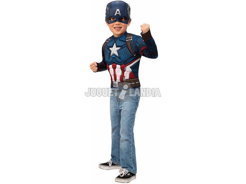 Disfraz Niño Capitán América Endgame Pecho y Máscara Rubies 40074