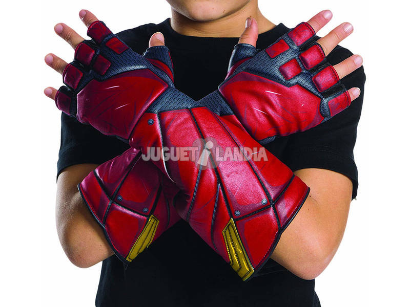 Gants The Flash la Ligue des Justiciers Rubies 34273