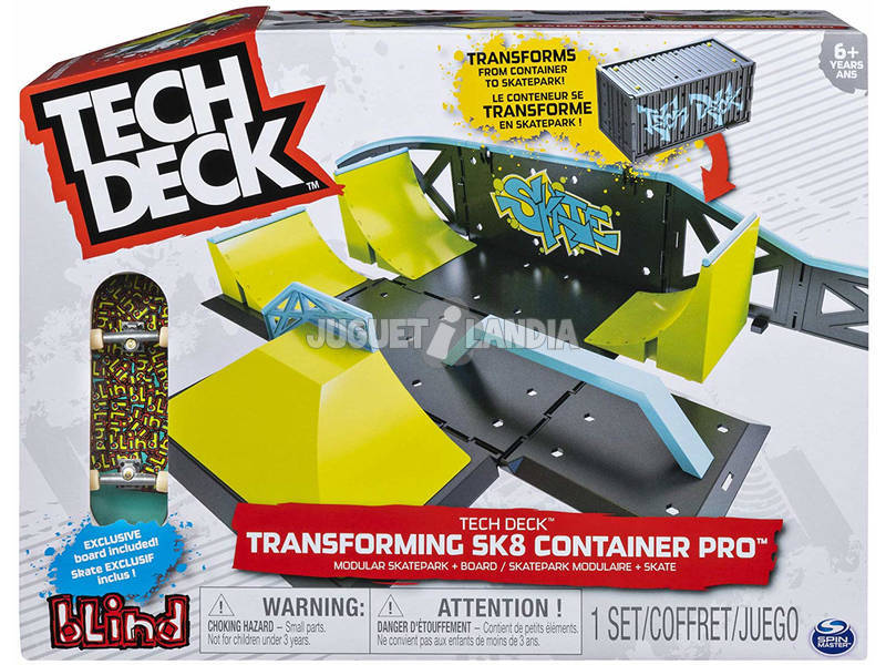 Tech Deck Conteneur Transformable Deluxe Bizak 6192 9878