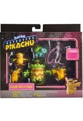 Pokémon Inspecteur Pikachu Multipack 6 Figurines Bizak 63227602