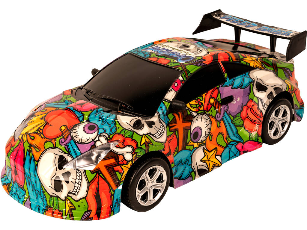 Auto Ad Attrito Racing Car Graffiti Overlord 48 cm.