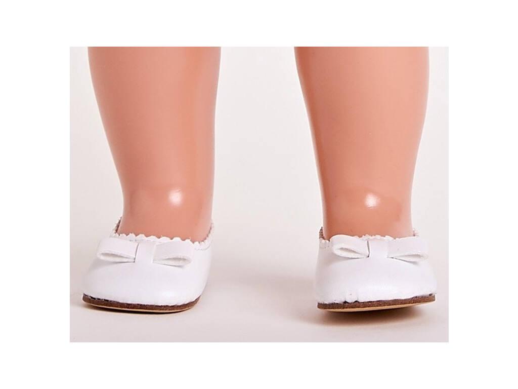 Sapatos Pele Branca Mariquita Pérez MP30043