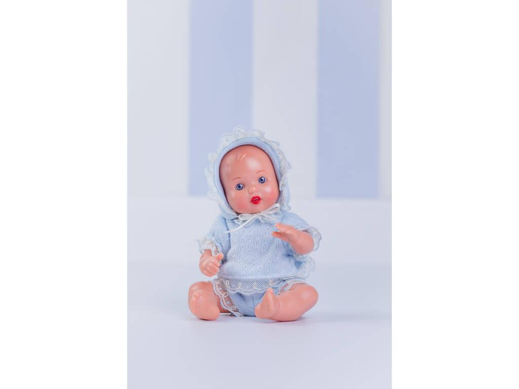 Mini Juanín Bebè completo Punto Azzurro e Beige Mariquita Pérez MJB05061