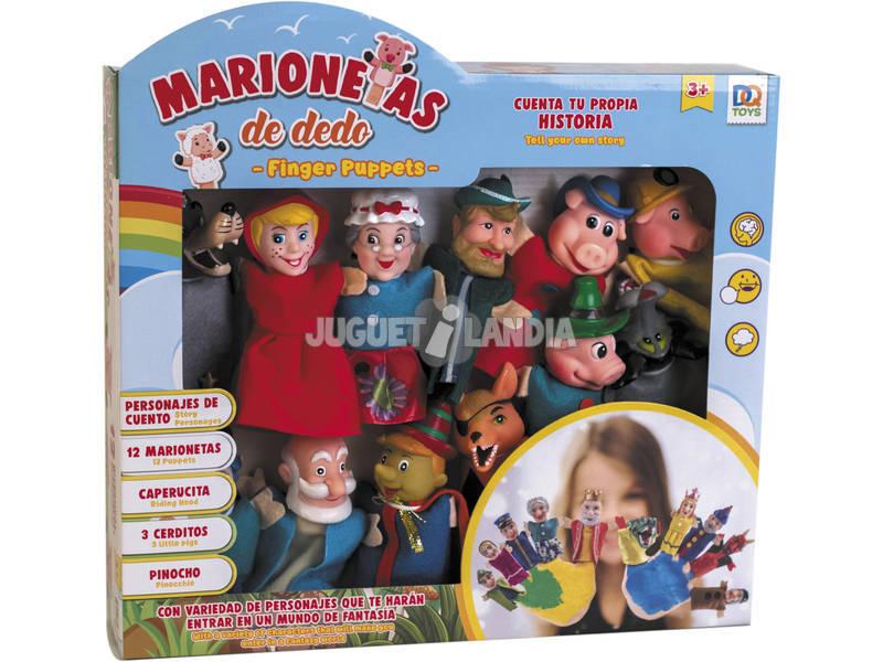 Kit 12 Marionnettes à Doigts Contes de Fées