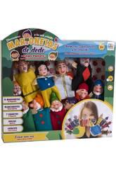 imagen Set 11 Marionetas Dedo Blancanieves y los 7 Enanitos