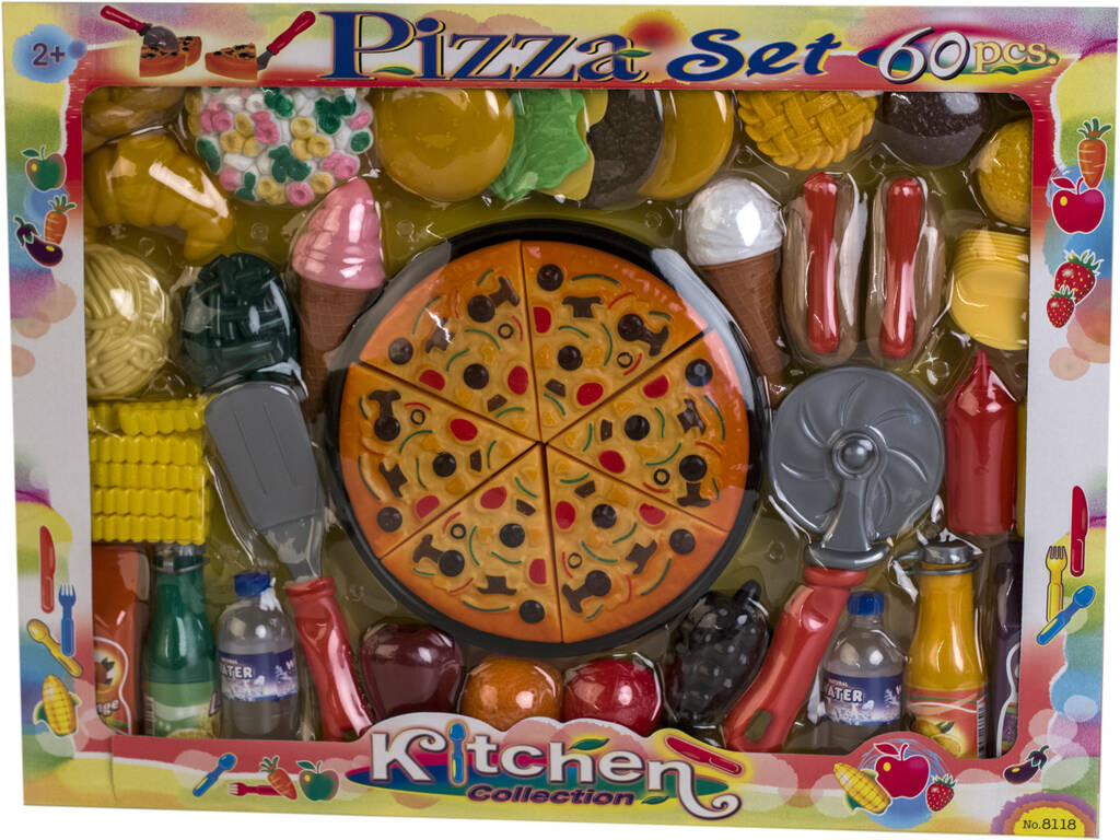 Set Pizza 60 pezzi
