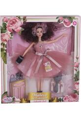 Poupée Collection 29 cm. Rose Jupe en Tulle avec des Accessoires