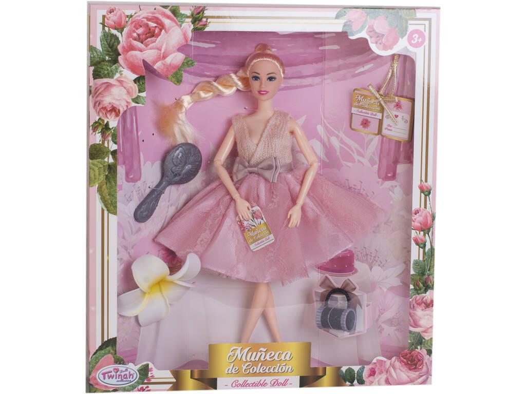 Muñeca Maniquí Colección 29 cm. Rosa Fiesta 3 Accesorios