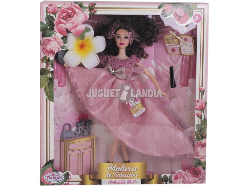 Muñeca Maniquí Colección 29 cm. Rosa Estampado con Accesorios