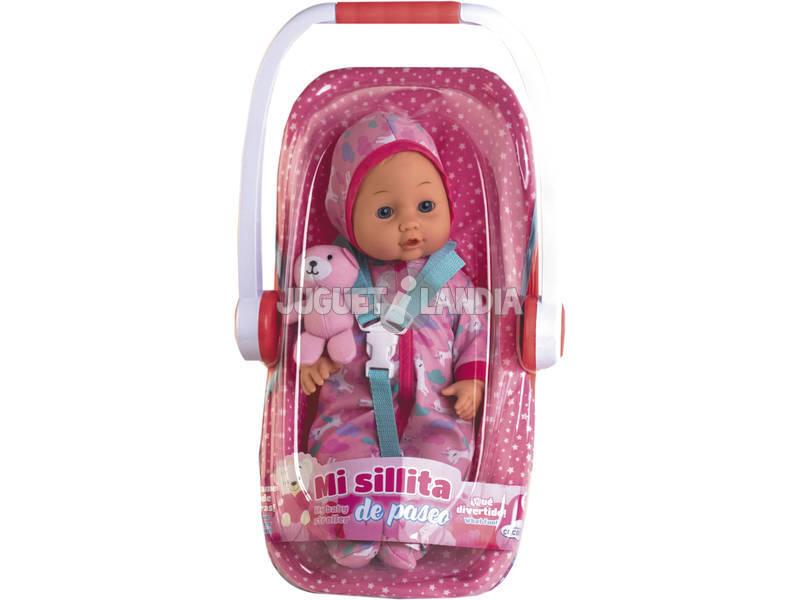 Bebé 40 cm. con Sillita de Paseo