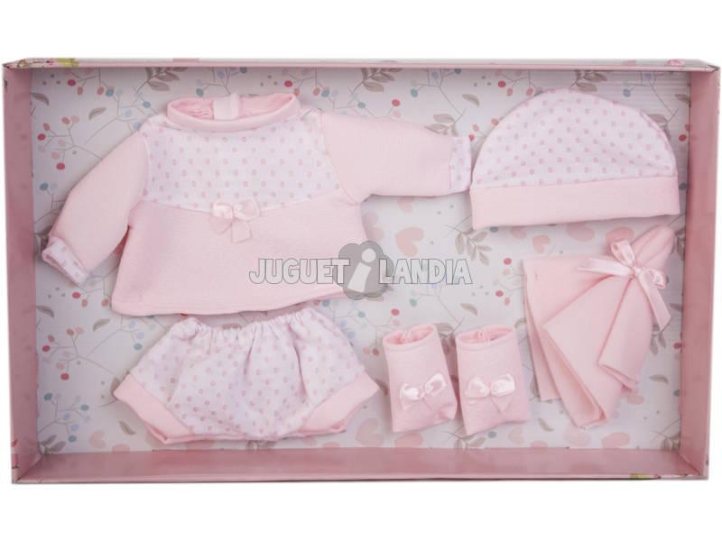 Vestido Reborn Puntos Rosa 38-42 cm