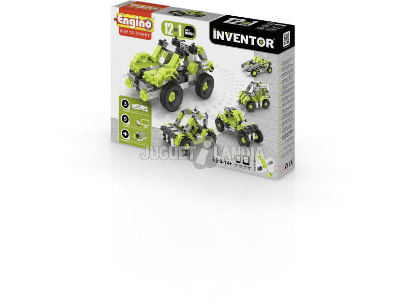 Kit Construction Inventeur 12 en 1 Voitures Engino 1231
