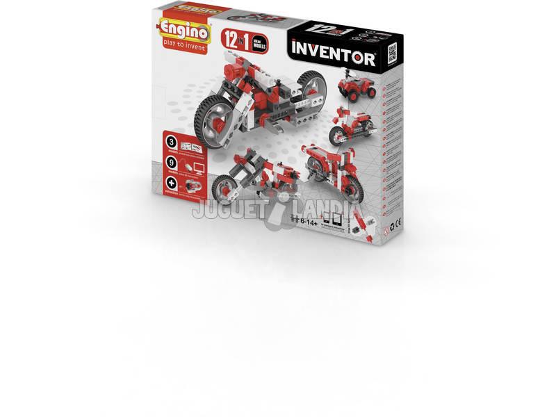 Kit Construction Inventeur 12 en 1 Motocyclettes Engino 1232