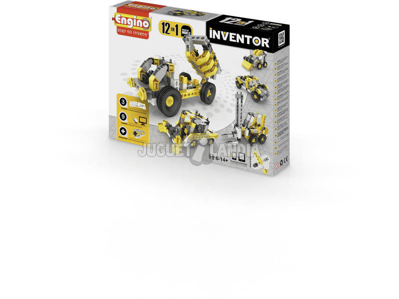 Set Construccion Inventor 12 en 1 Vehículos Industriales Engino 1234
