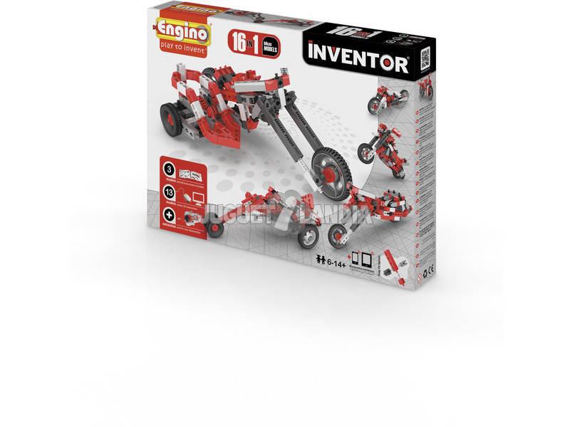 Set Construcción Inventor 16 en 1 Motos Engino 1632