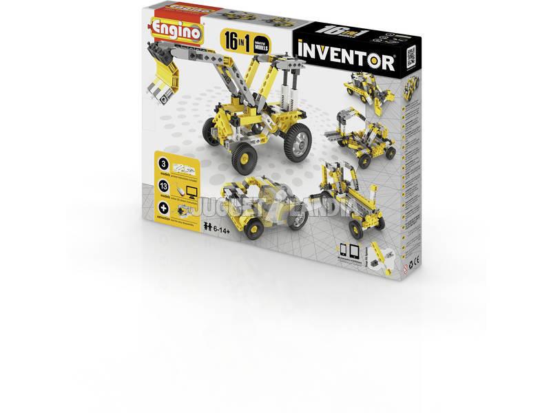 Set Construcción Inventor 16 en 1 Vehículos Industriales Engino 1634