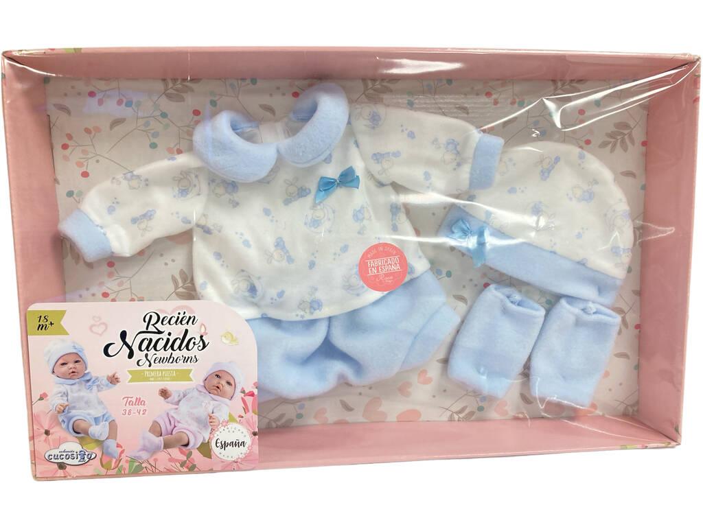 Vestido Bebé Estampado Azul 38-42 cm