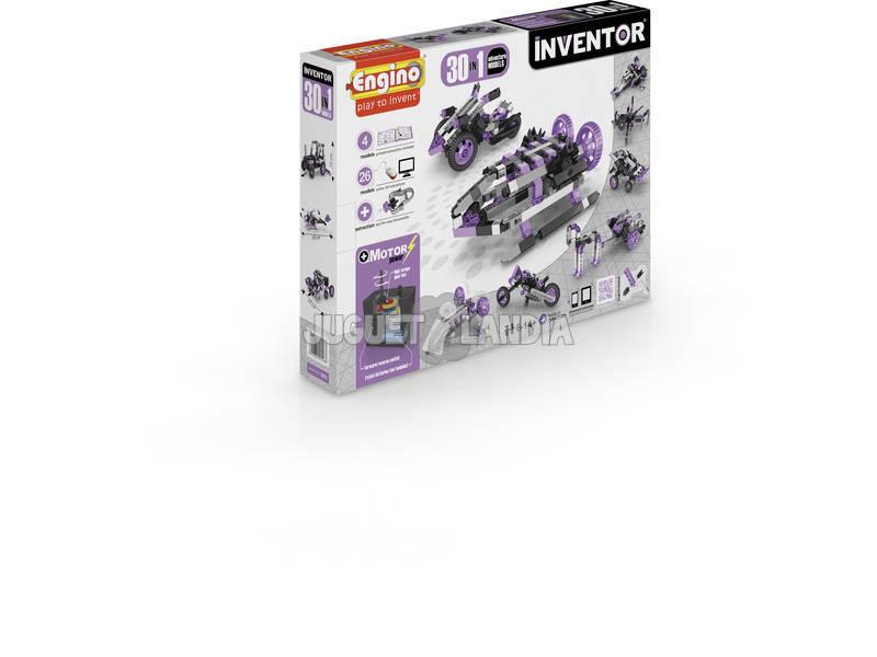 Set Construcción Inventor 30 en 1 Modelos Aventura Motorizados Engino 3031