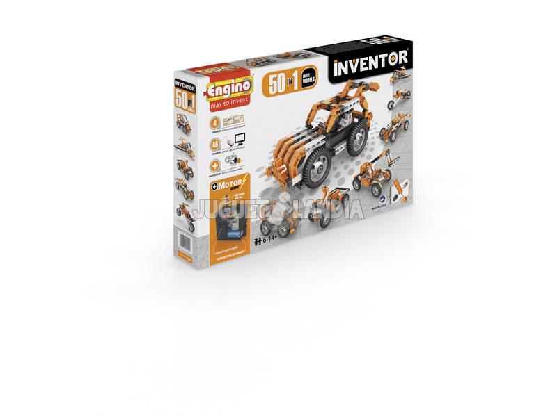 Kit Construction Inventeur 50 en 1 Multimodèles Motorisés Engino 5030