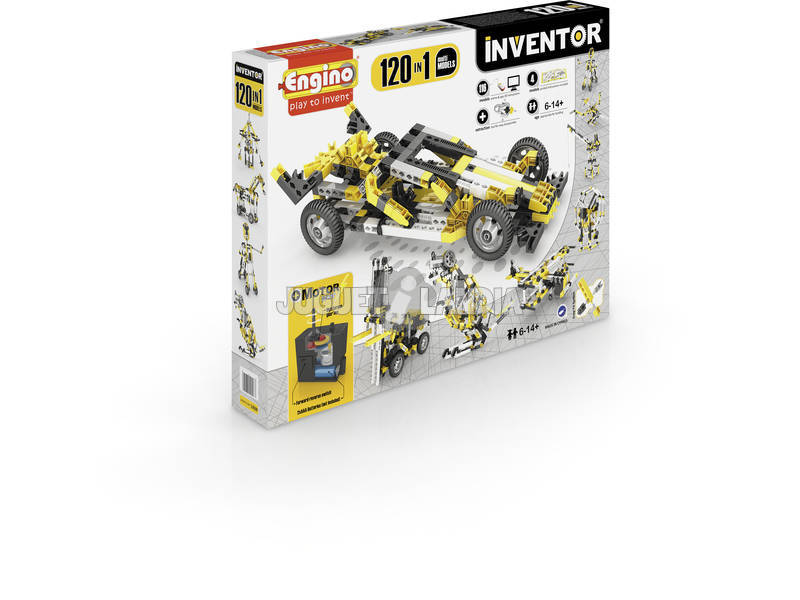 Kit Construction Inventeur 120 en 1 Multimodèles Motorisés Engino 12030