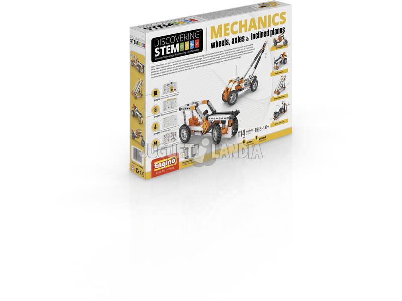 Set Construcción STEM Ruedas, Ejes y Planos Inclinados Engino STEM02