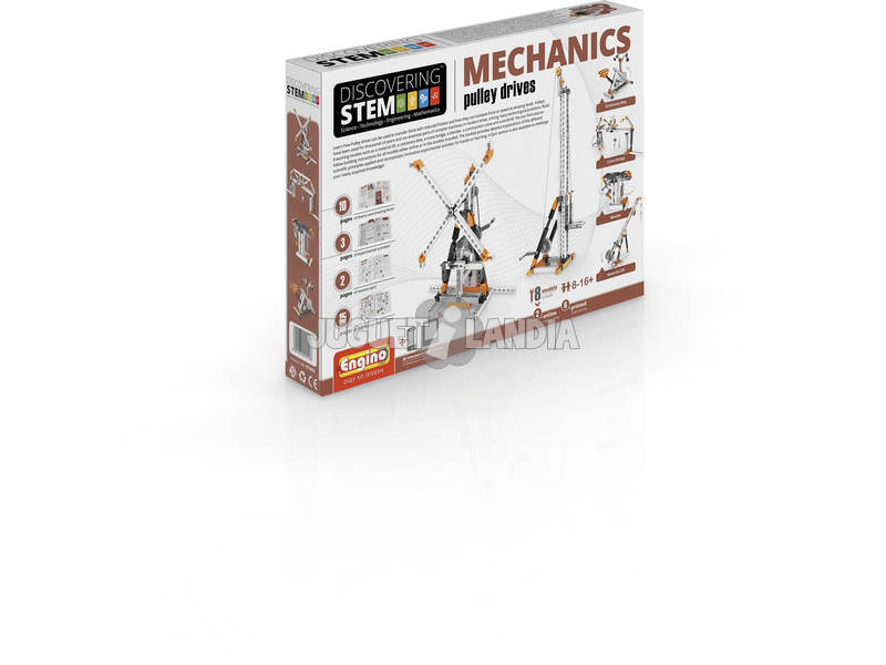 Set Construcción STEM Poleas Engino STEM03