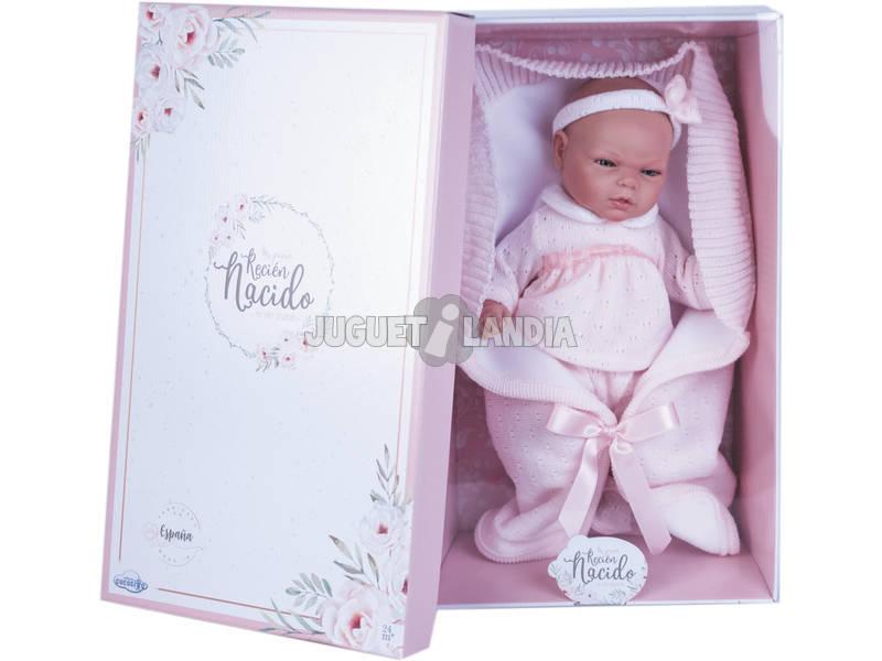 Muñeca Reborn Vestido Lana Rosa