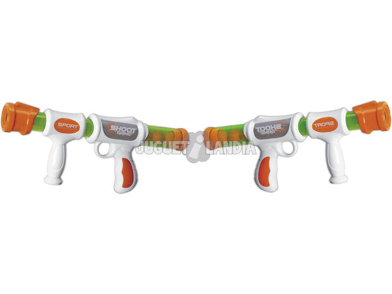2 Pistolets Lanceurs de Balles Bunder avec 32 Balles