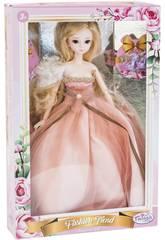 Bambola Stile Giappone 29 cm. Vestito Rosa Sposa