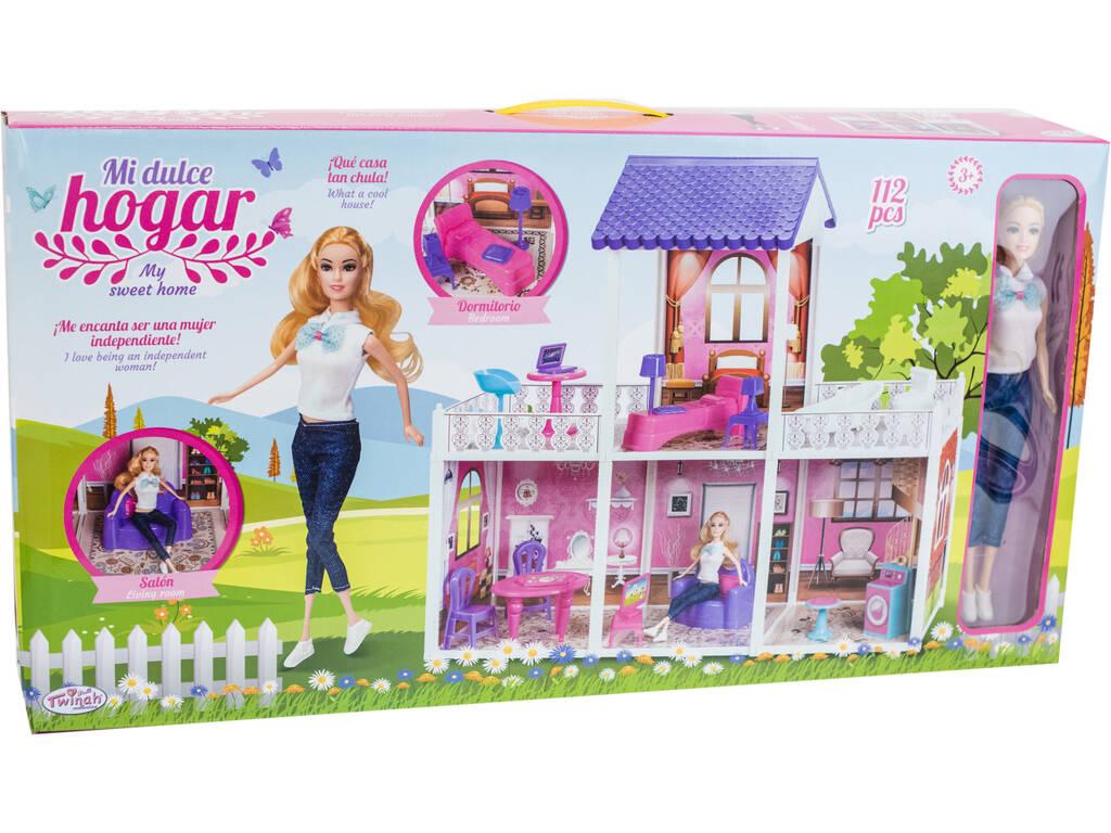 Barbie Chelsea clubhouse Cocina playset Portable colorido edificio con muñeca
